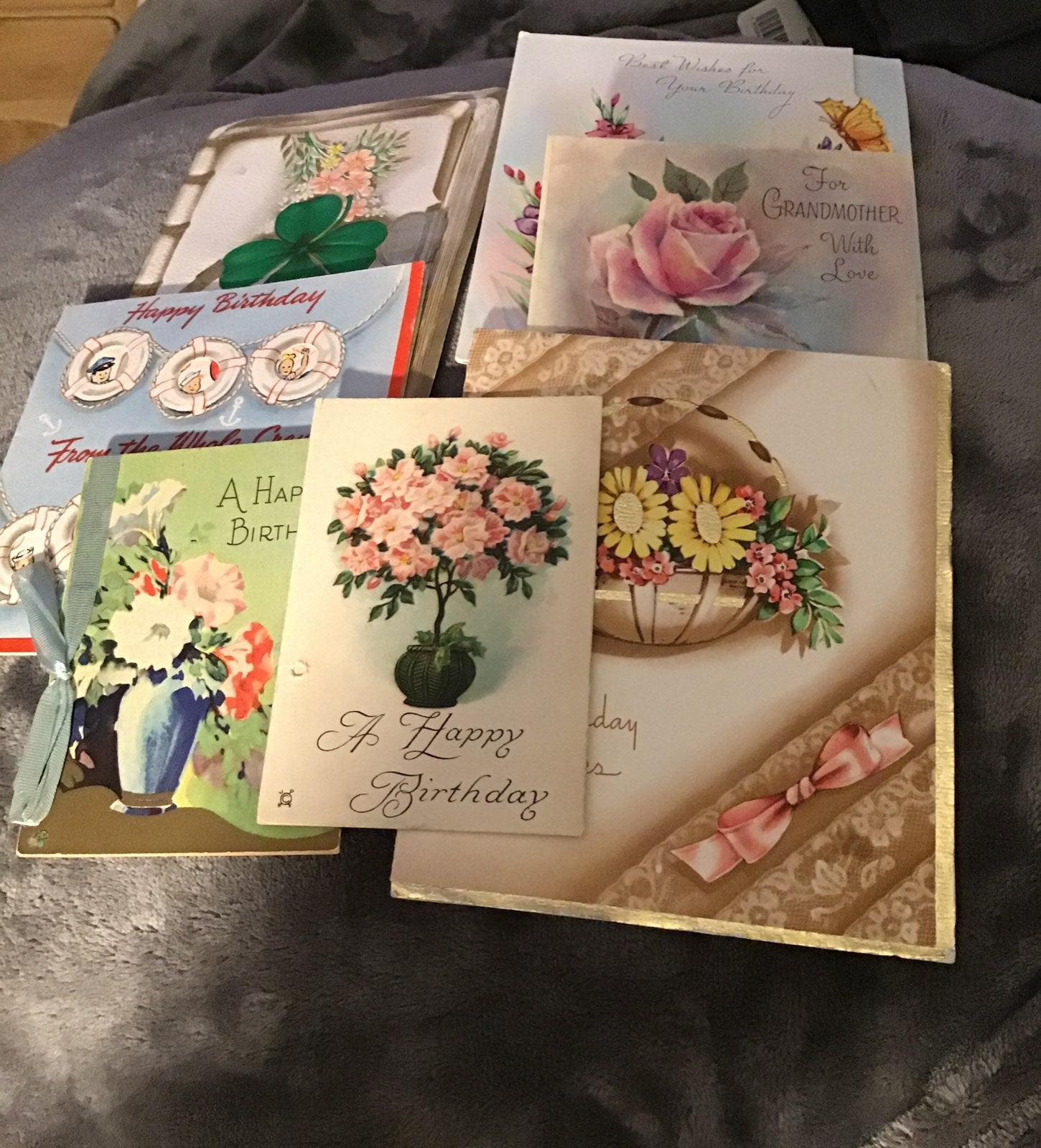 Cards,greeting,Birthdays 7 cards