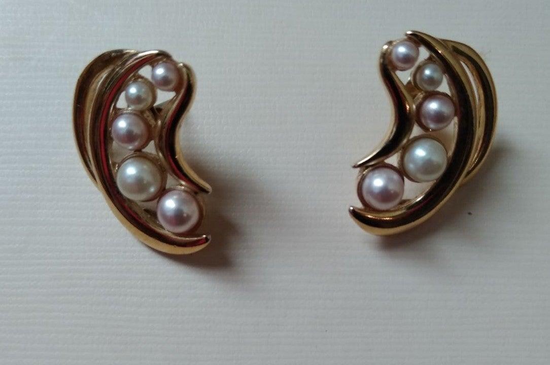 Vintage Faux Pearl Trifari Earrings