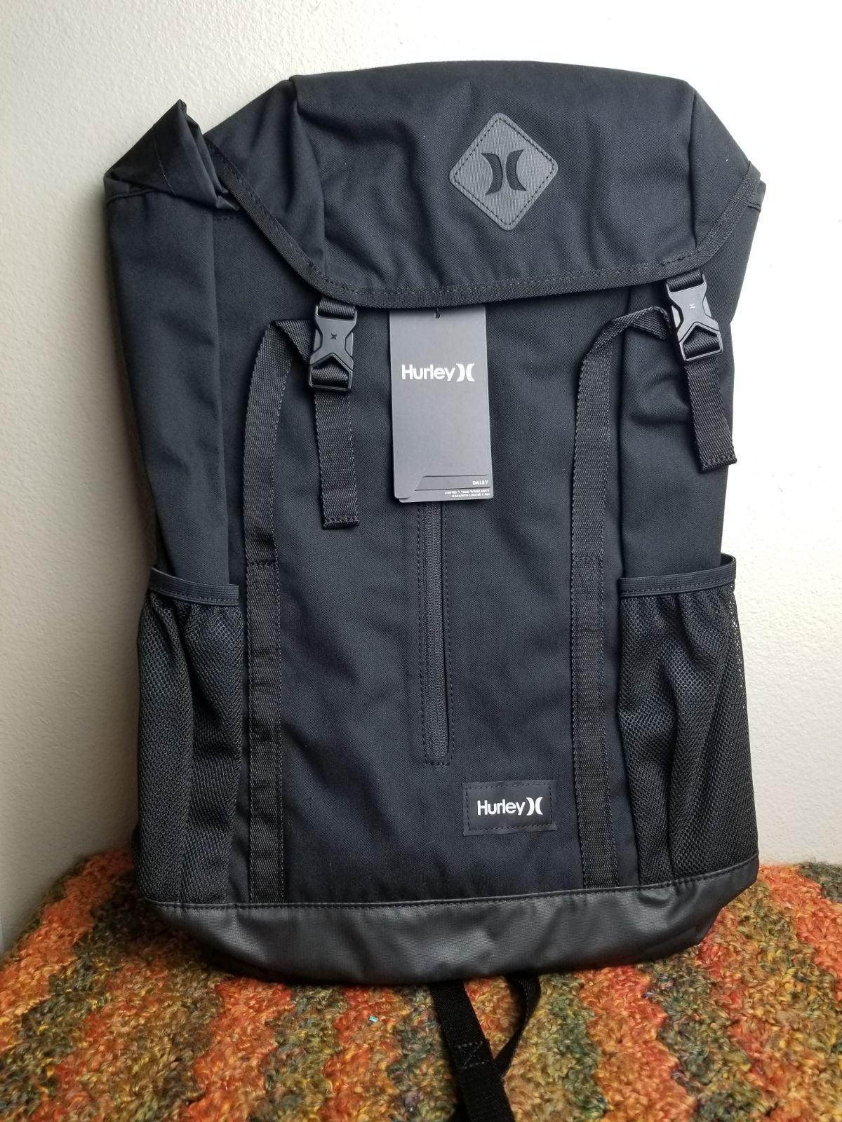 Hurley Daley Black Drawstring Backpack