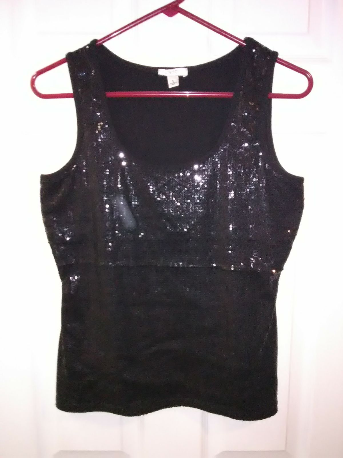 Cache Sequin Top Size Small
