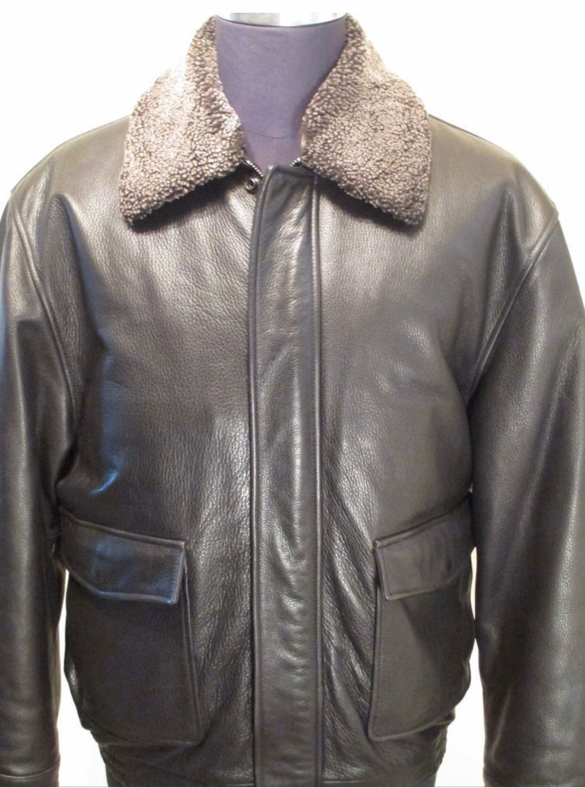 Jos. A. Bank Leather Aviator Coat