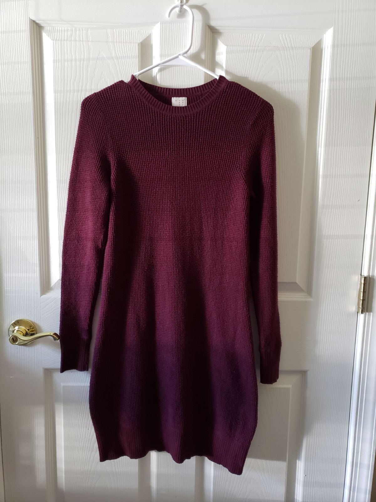maroon bodycon sweater dress