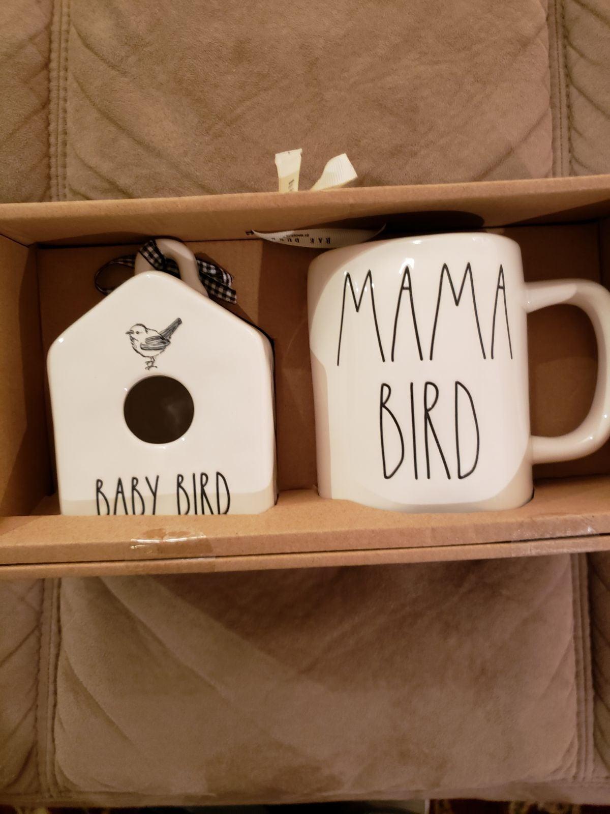 NWT Rae Dunn Birdhouse Mug Mama Bird