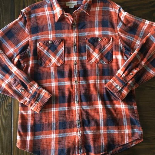 Ruff Hewn Button Down Flannel Shirt, M