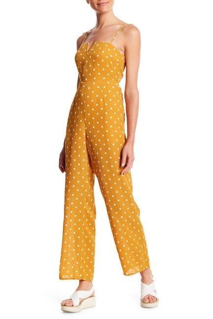 Honey Punch Polka Dot Jumpsuit