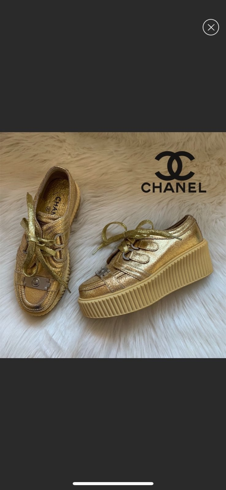 Authentic CHANEL CC Creepers Sneakers