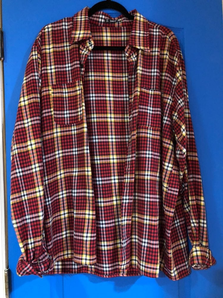 Red Flannel Button Down Shirt