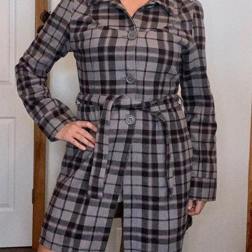 Roxy Gray Plaid Jacket