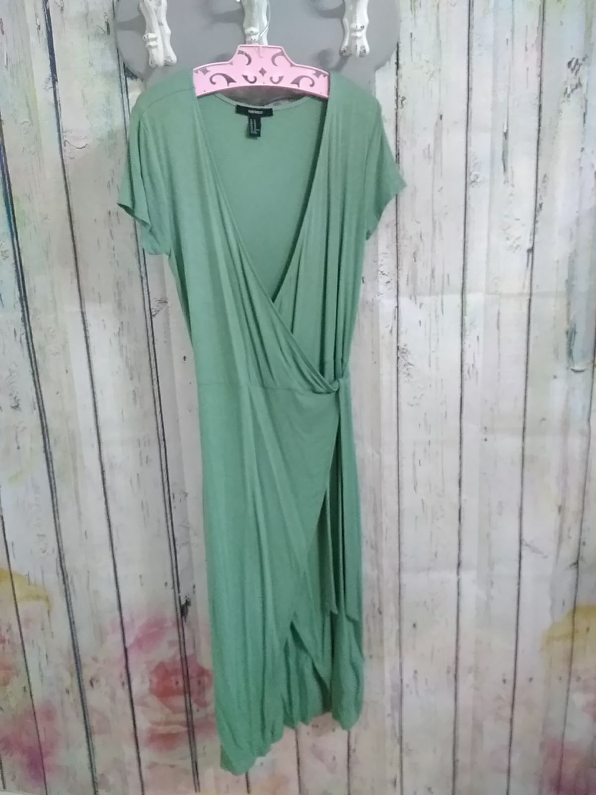 Sage Green Wrap Dress