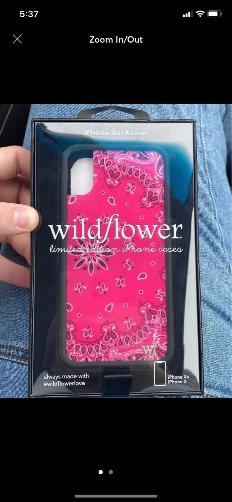 wildflower case iphone XS/X