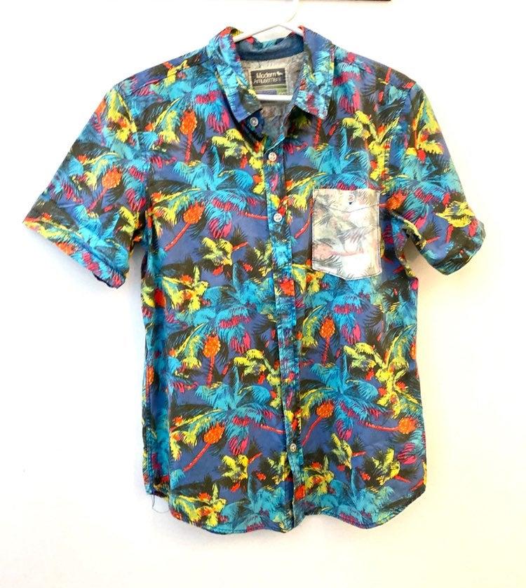 Tropical Casual Button Shirt