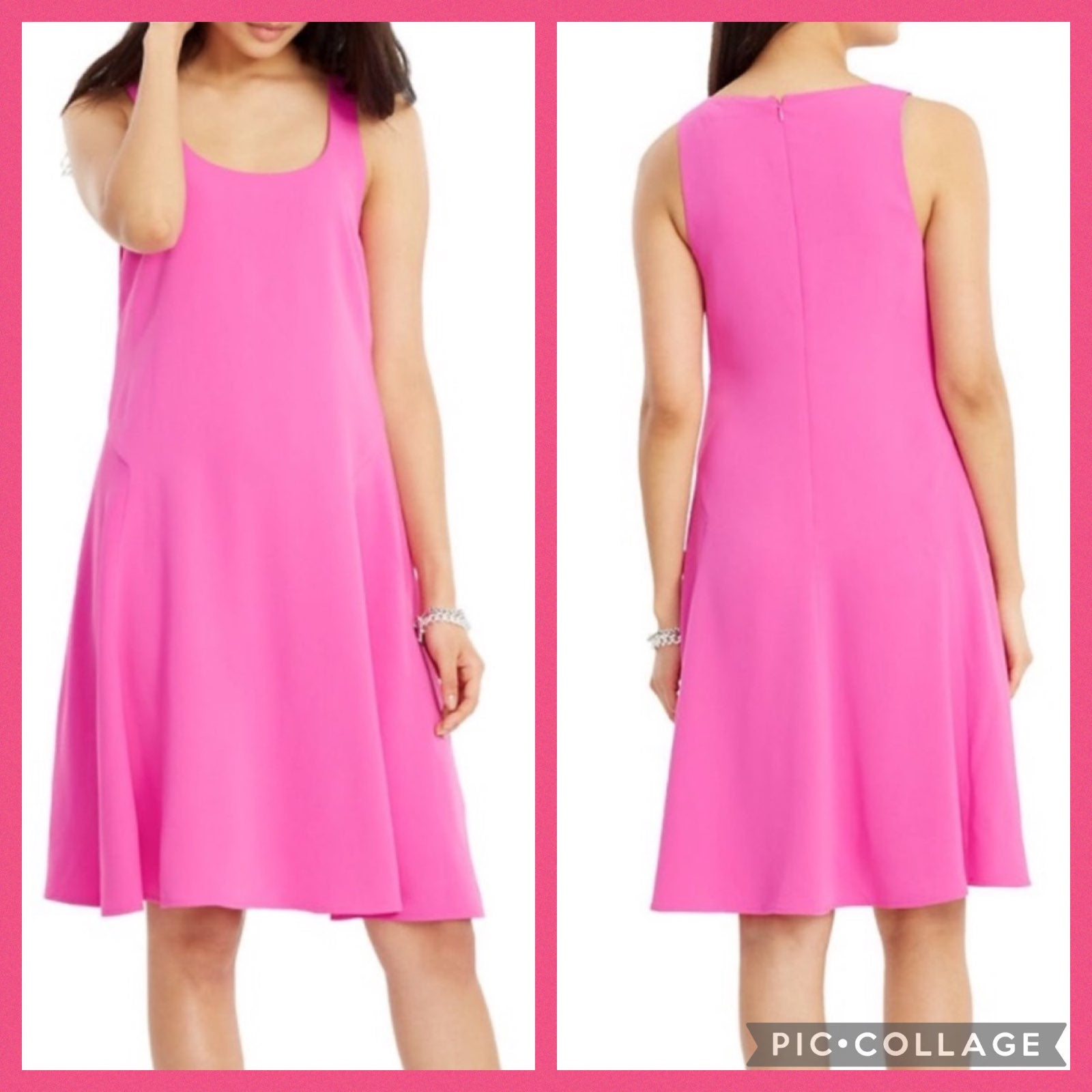 Lauren Ralph Pink Sleeveless Dress 12
