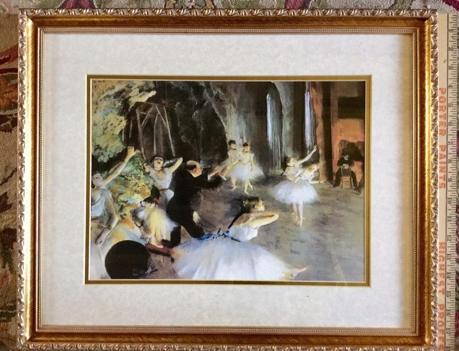 Framed Degas Ballerinas Museum Litho