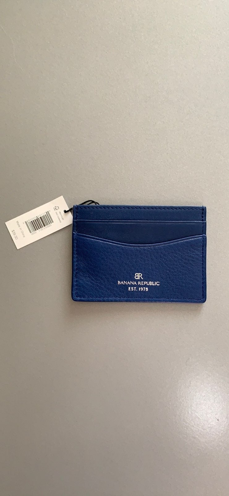 Banana Republic blue leather card holder