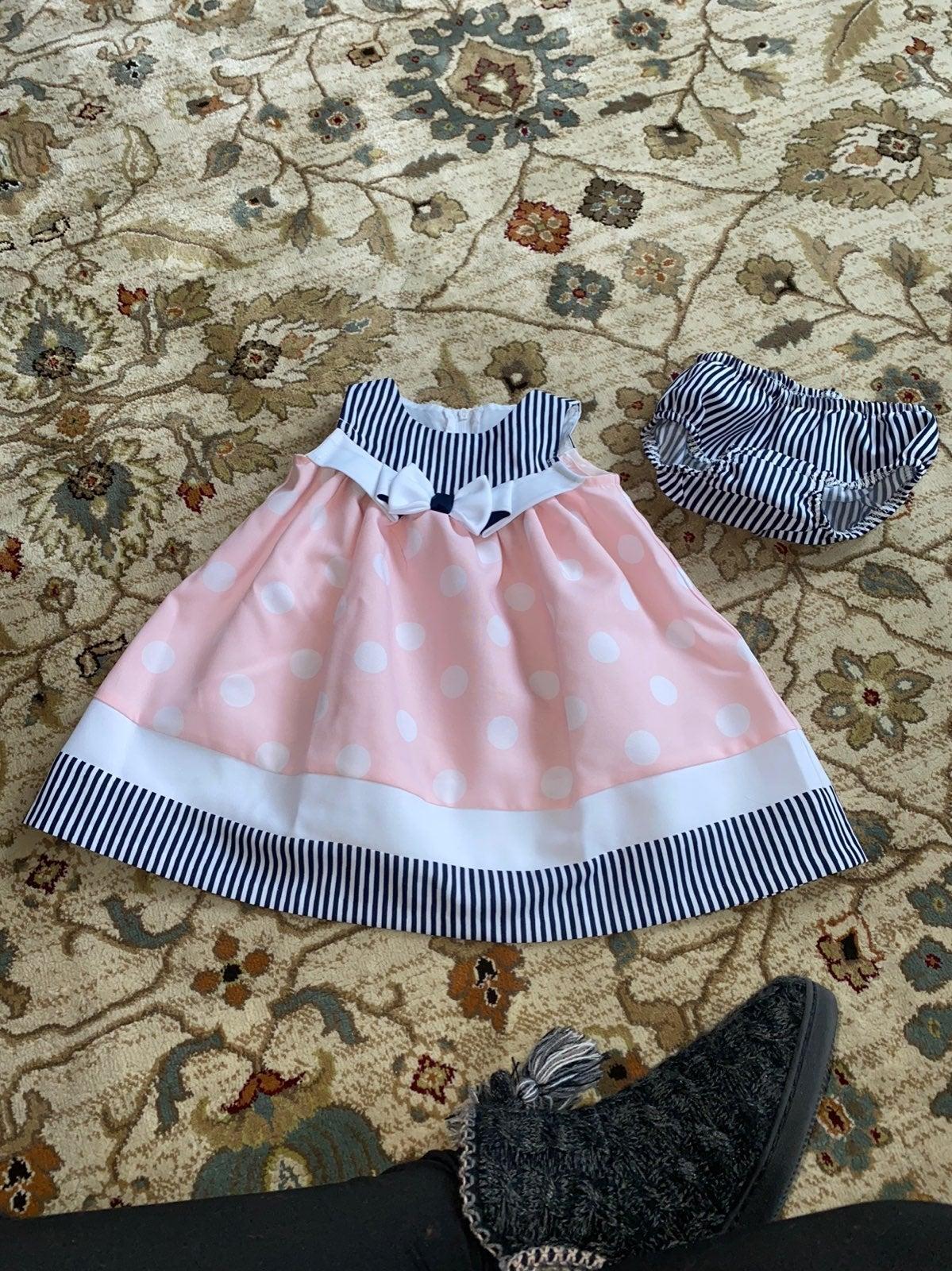 Baby girl polka dot dress