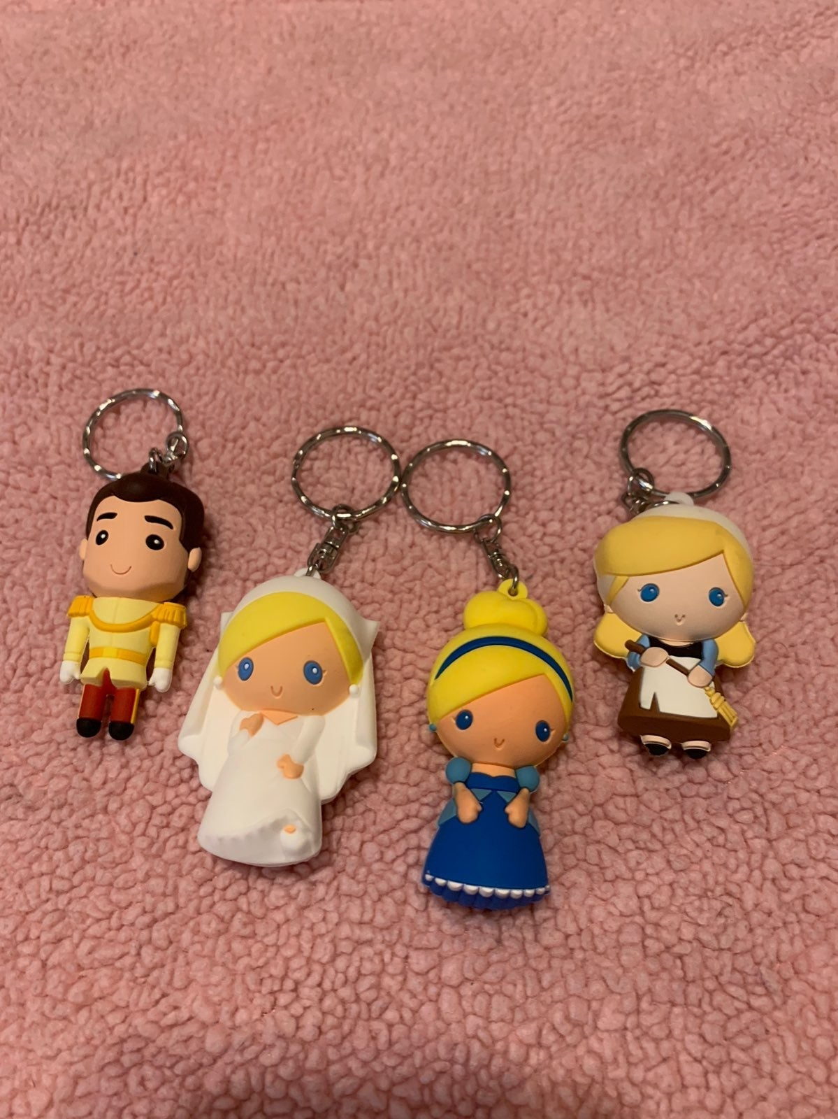 Cinderella mini keychains set