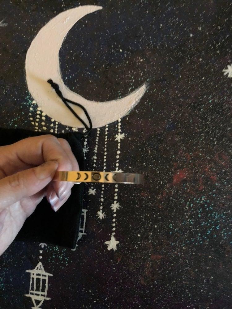 Gold moon cycle bracelet