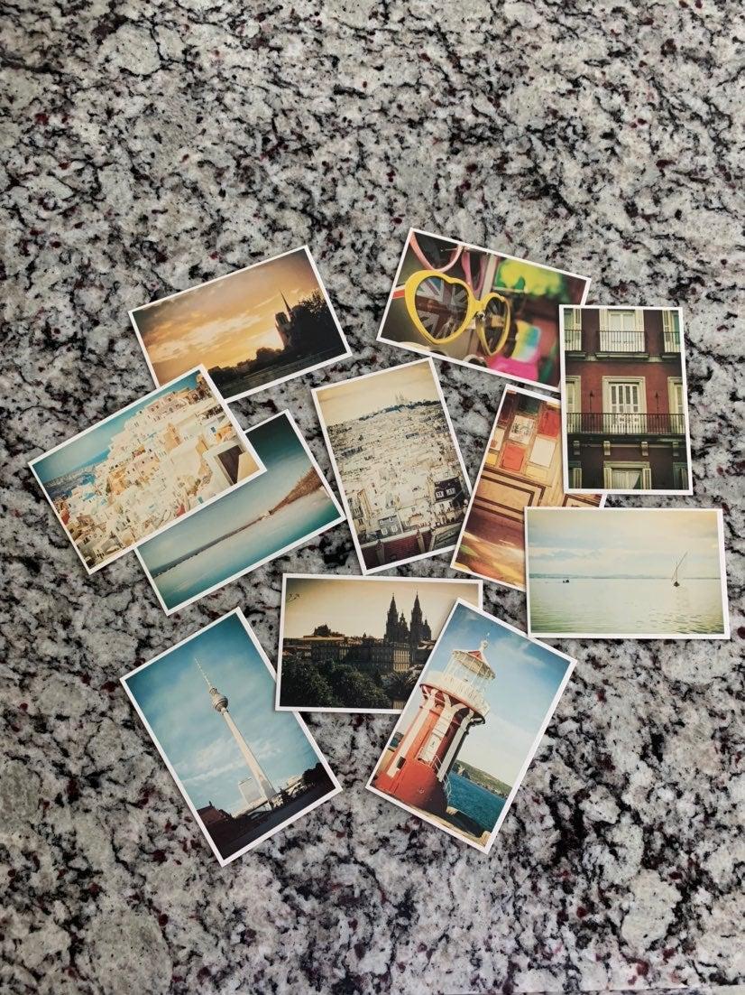 10 Vintage Travel Postcards Set