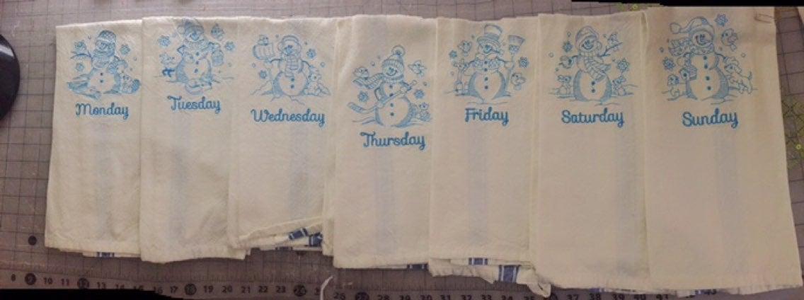 Snowmen Kitchen towels