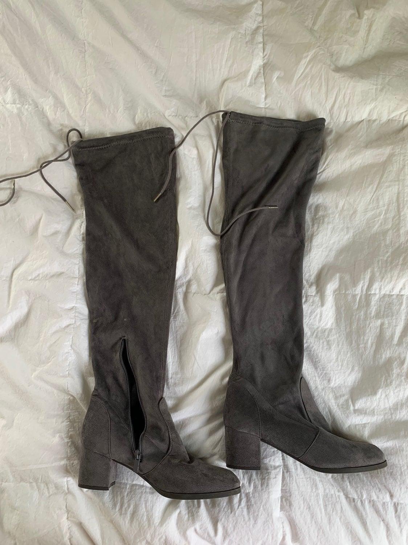 Fashion Nova Knee High Suede Boots