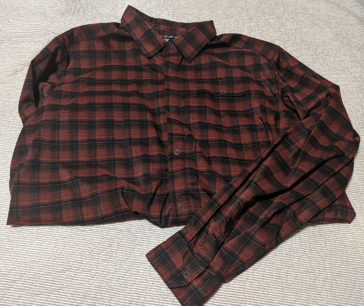 Men's Swiss Tech long sleeve plaid shirt