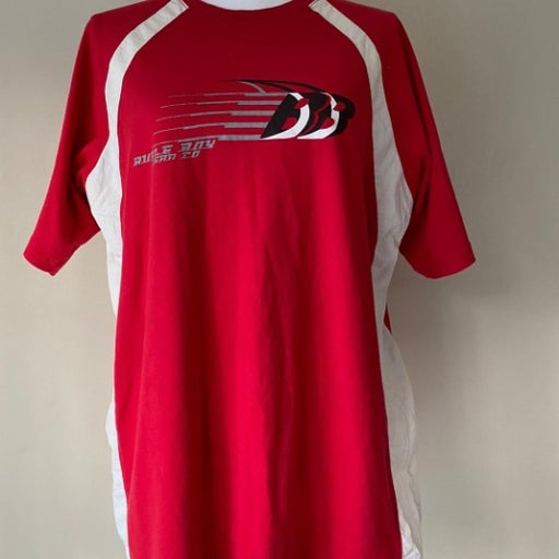 Vintage Bugle Boy streetwear red shirt