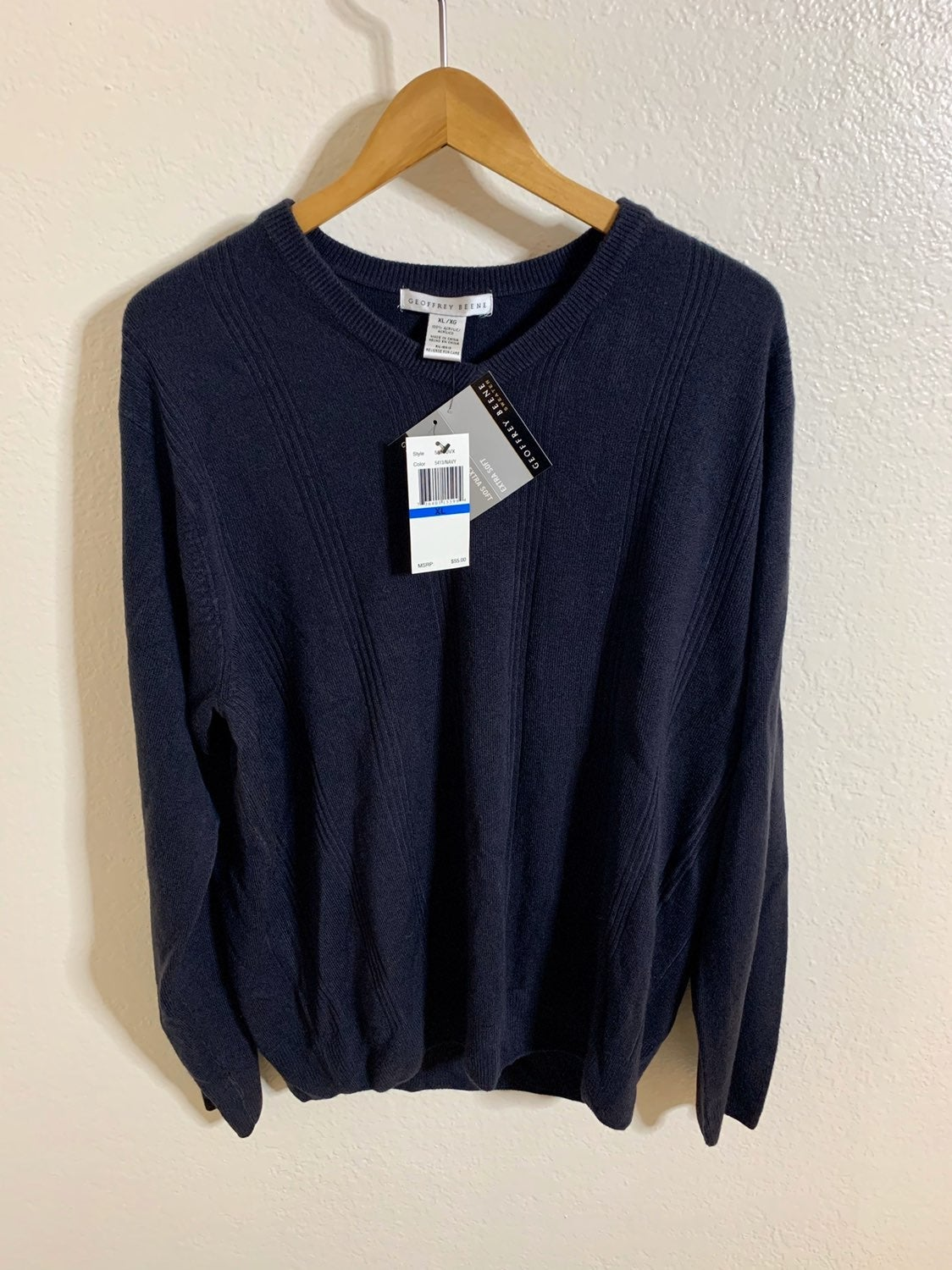 NWT Geoffrey Beene Ribbed Sweater