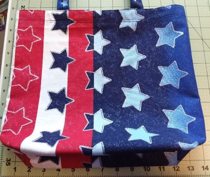 Canvas tote bag-Stars and Stripes-medium