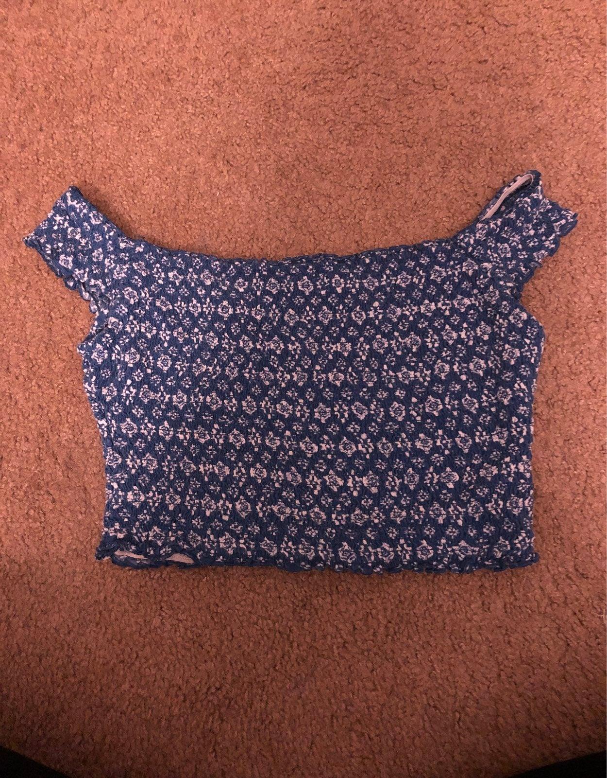 Blue Hollister Crop Top