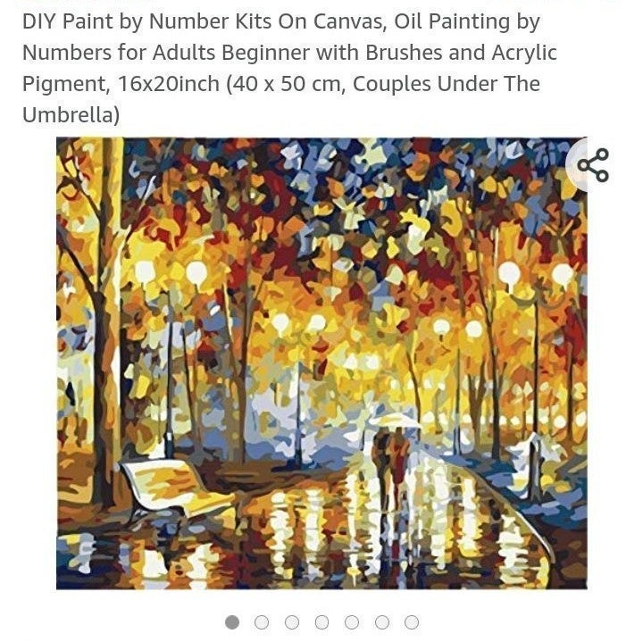 Paint by numbers arts and crafts kit