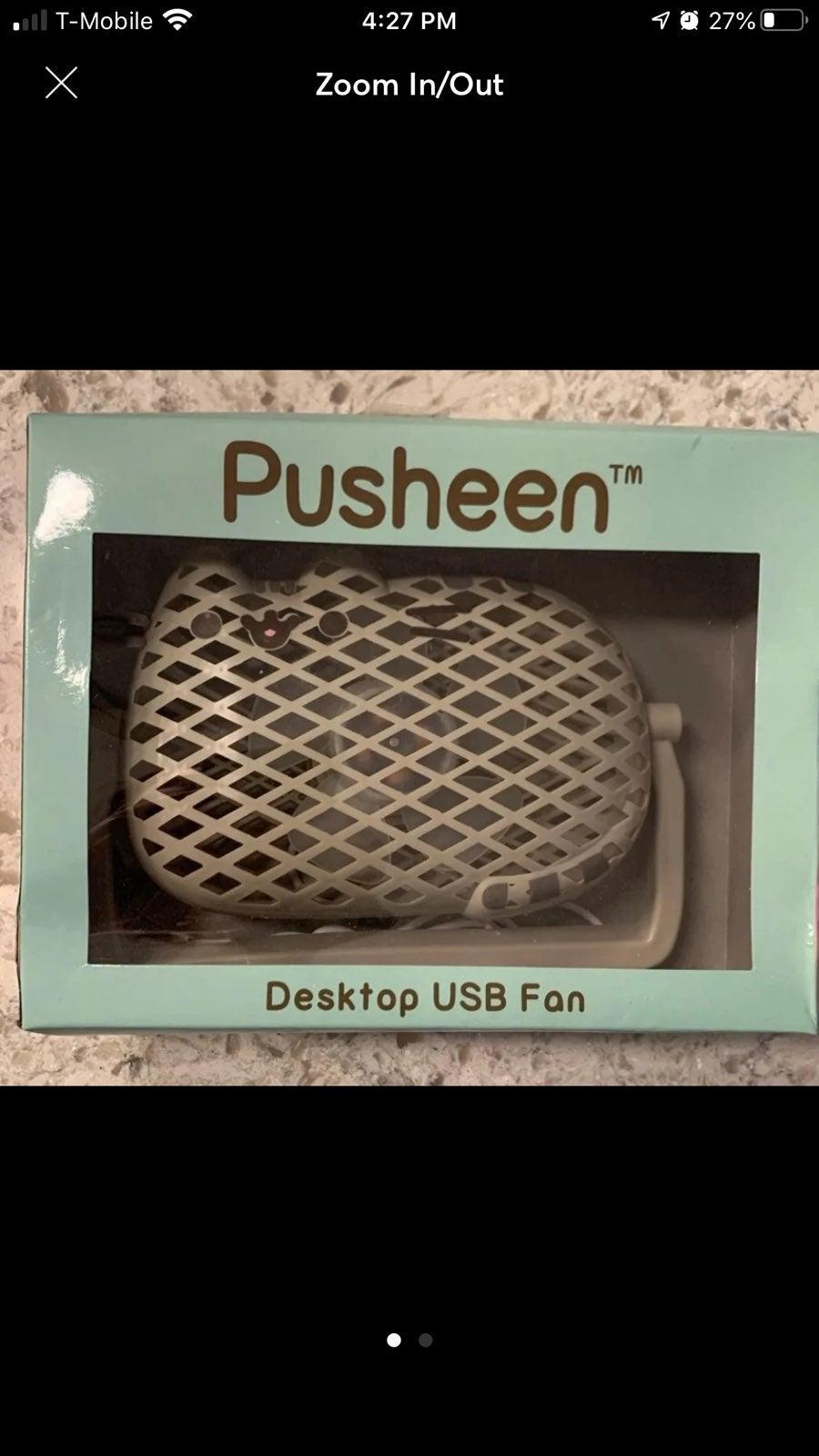 Pusheen USB Desktop Fan New