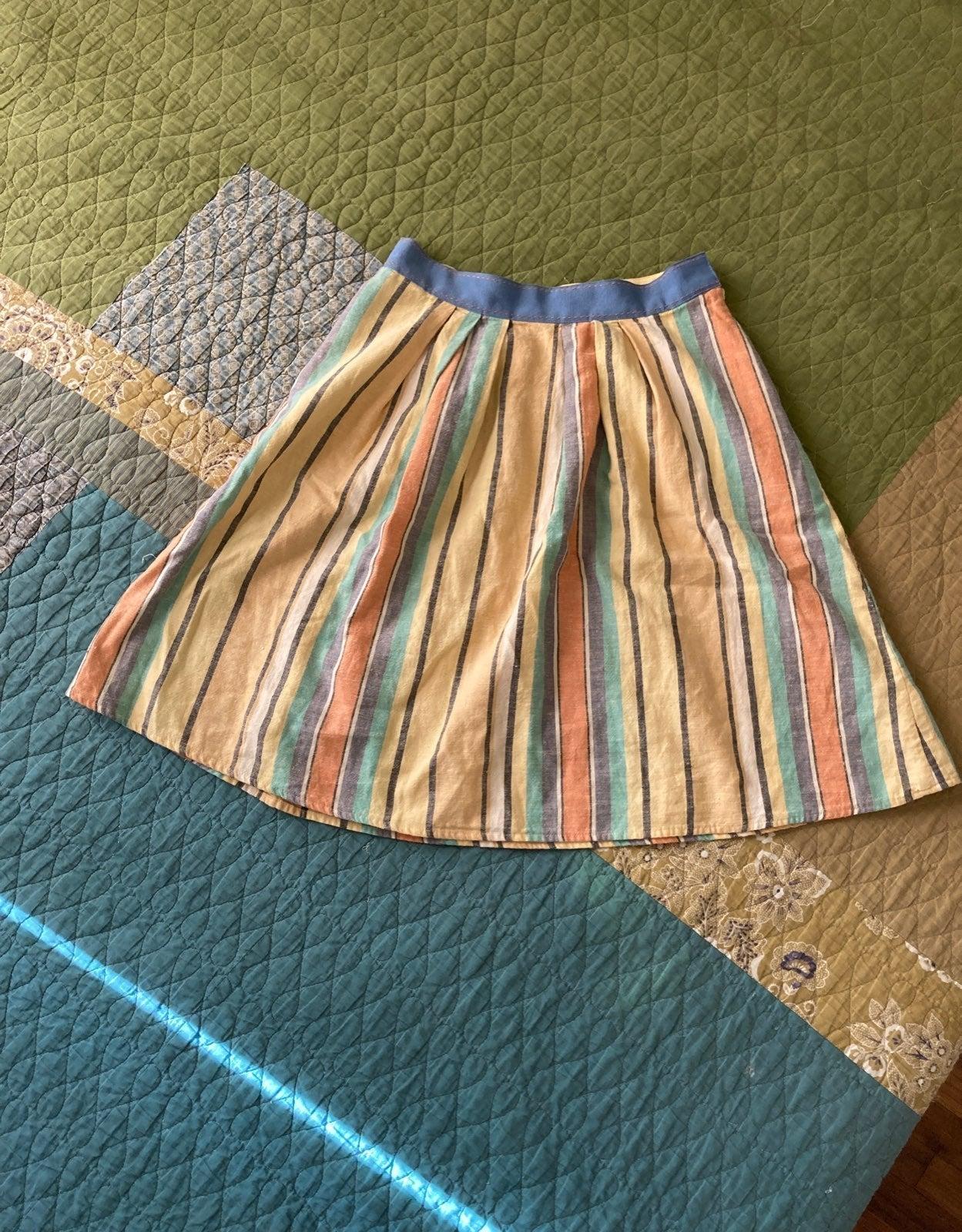 Anthropologie linen skirt