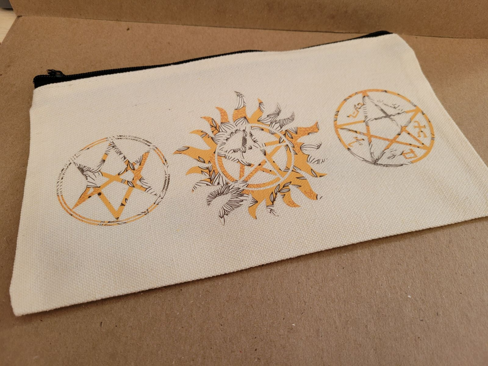 Supernatural Canvas Pouch-sunflower