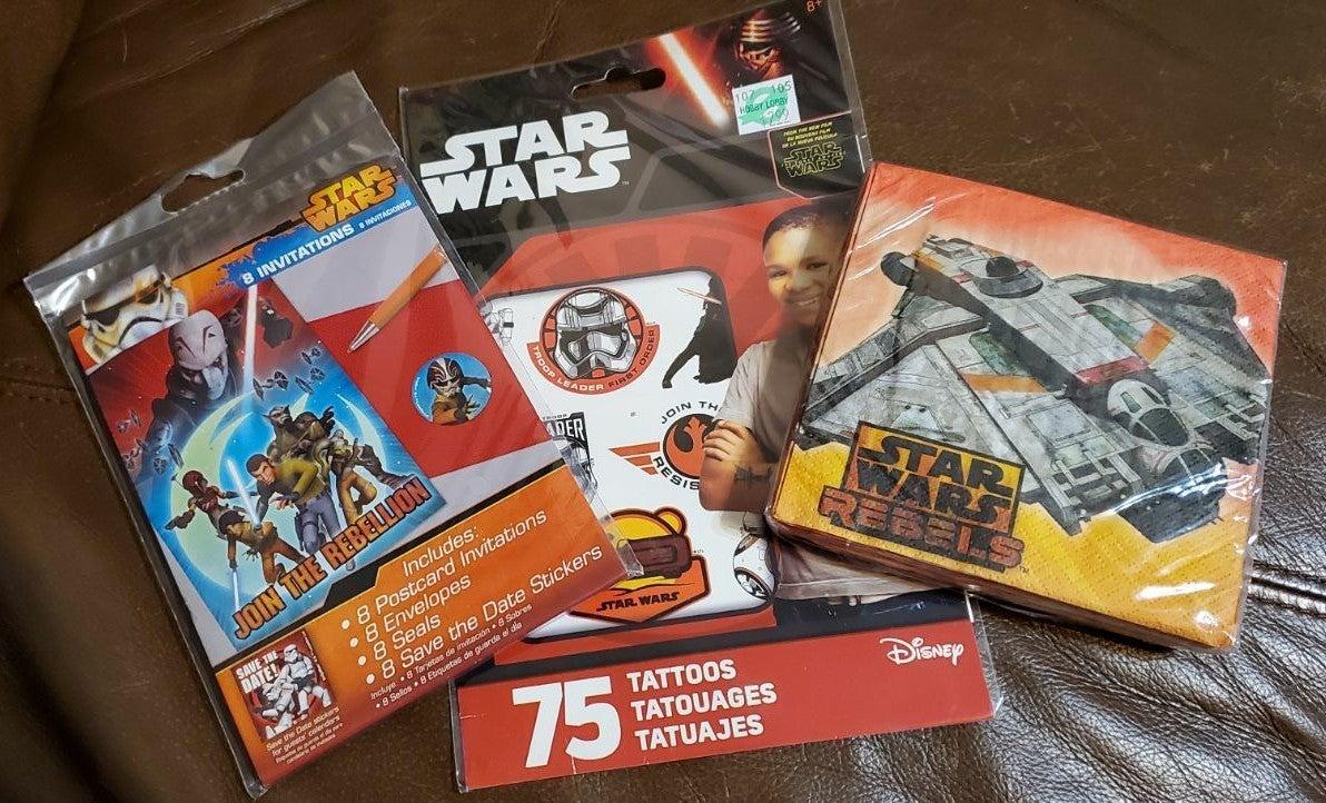Star Wars party supply bundle