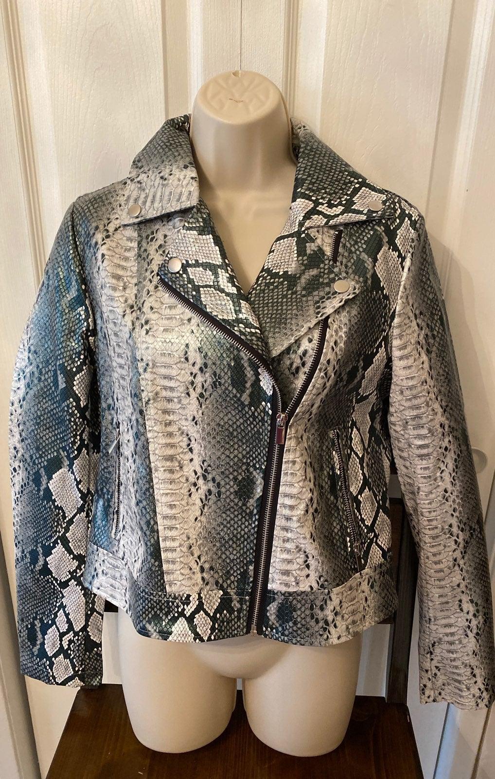 Bagatelle Snakeskin Leather Jacket