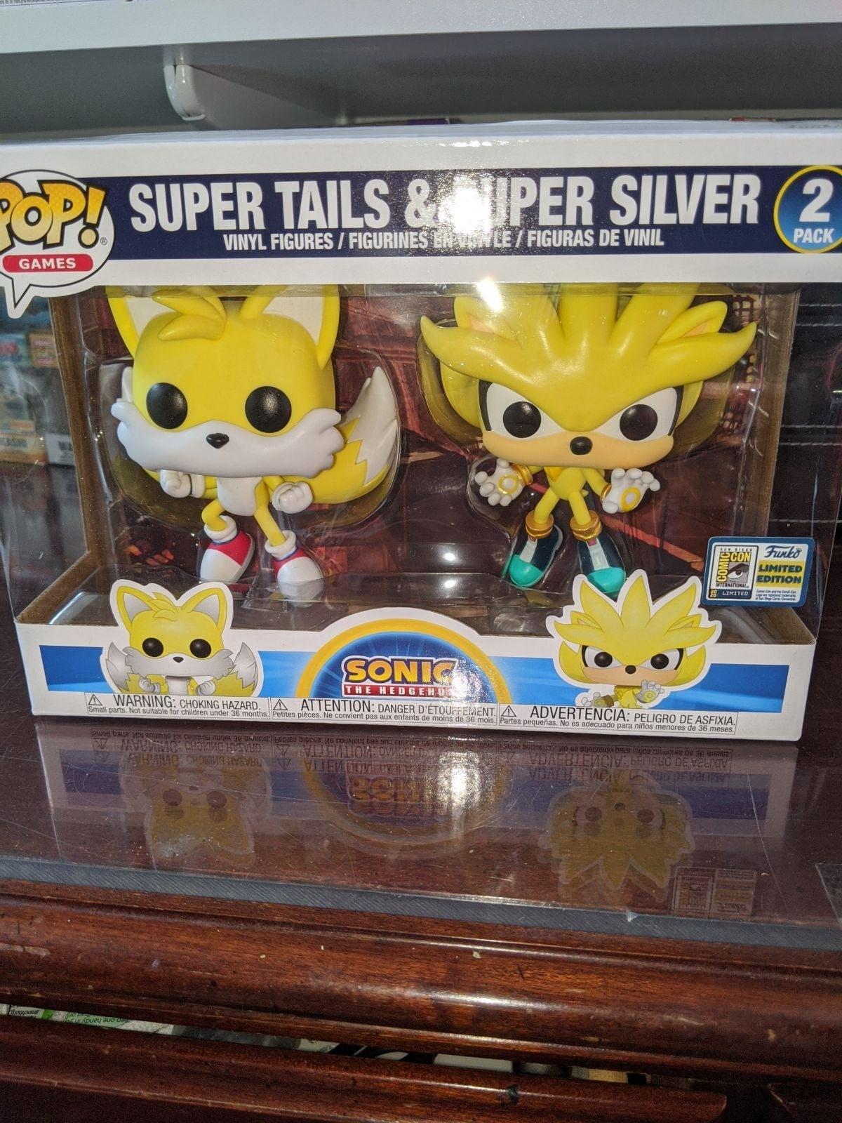 Super Tails and Super Silver SDCC funko