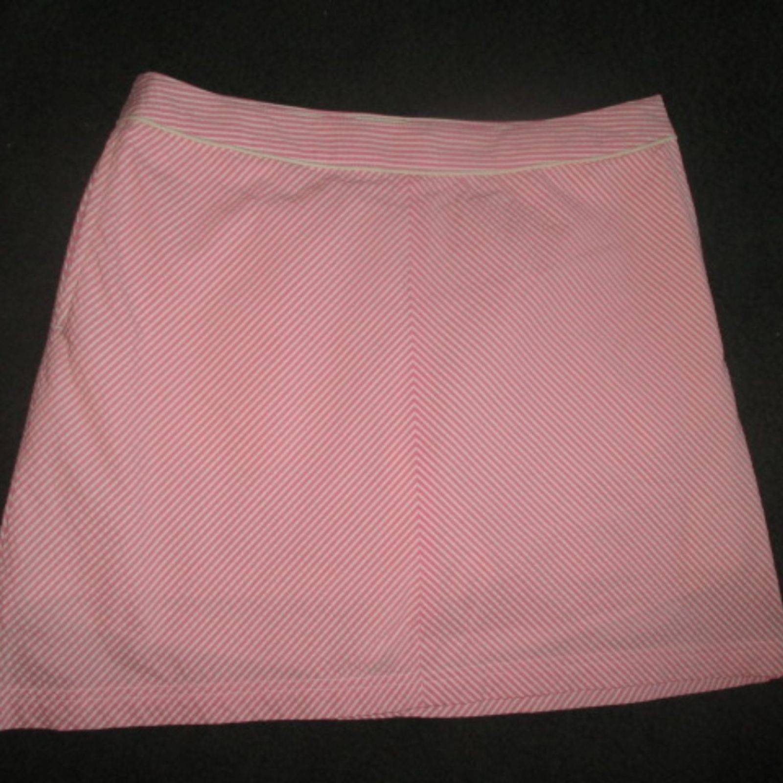 Seersucker Pink Golf Skort Skirt VTG