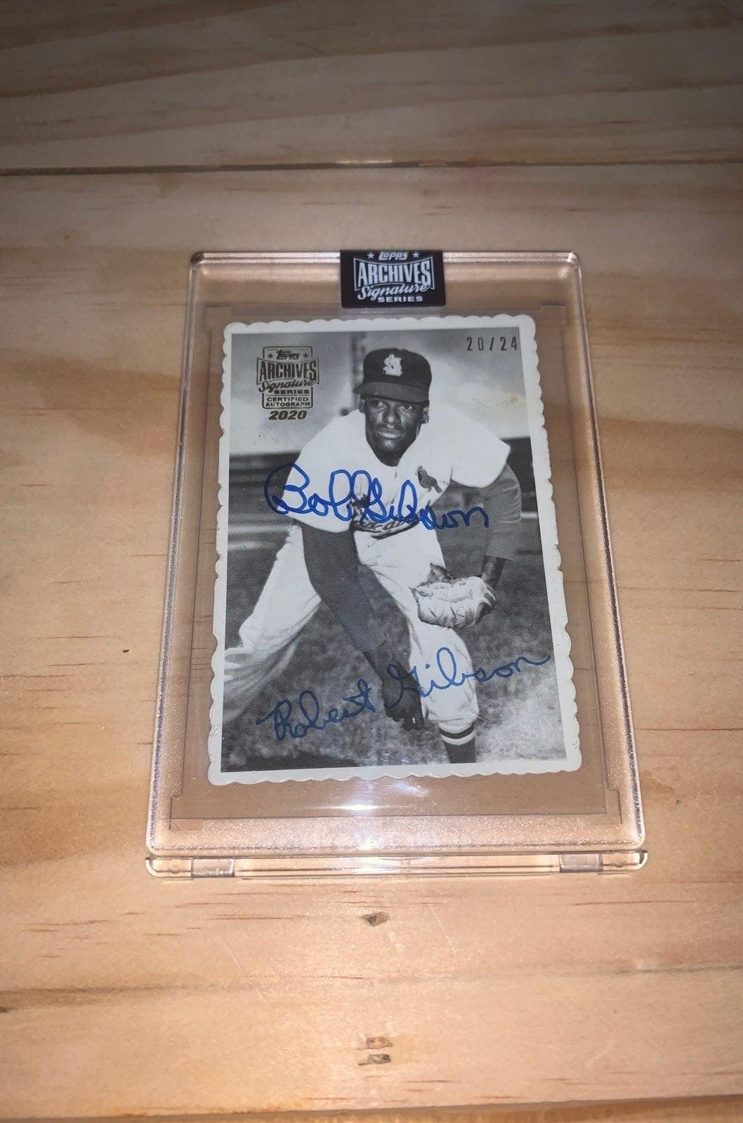 Bob Gibson Archives Signature 20/24