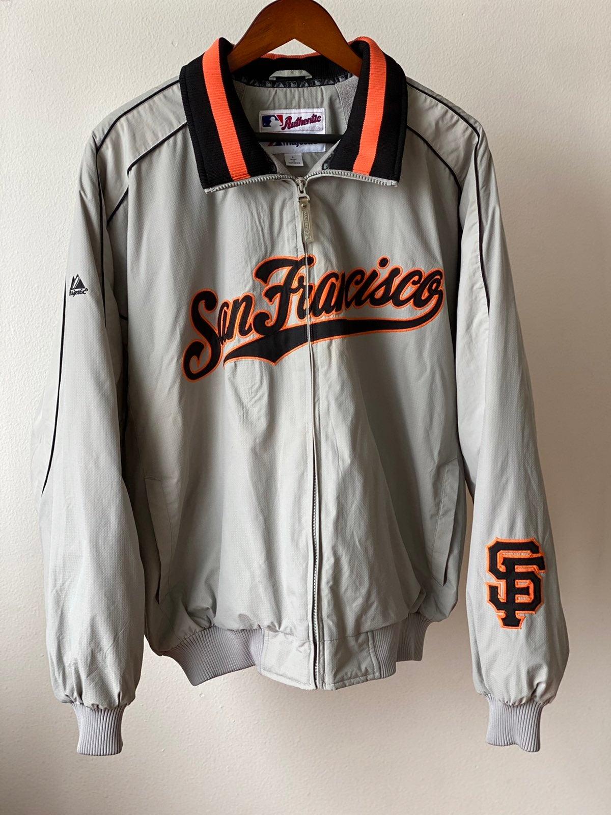 Vtg 90s Majestic SF Giants Coat Sz L
