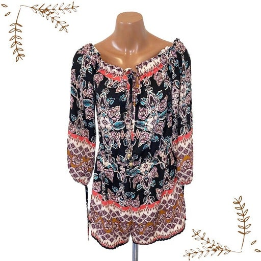 About A Girl Floral Romper