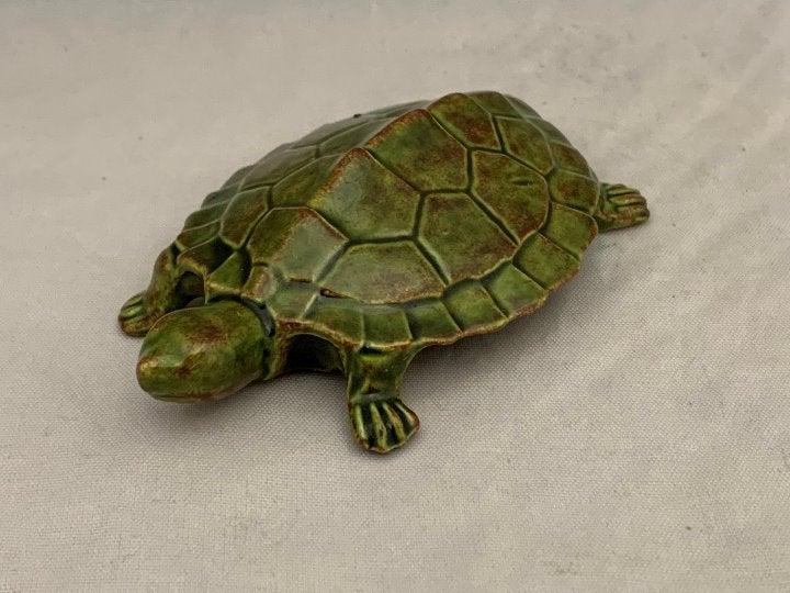 """Miniature Ceramic Turtle - 3.5"""""""