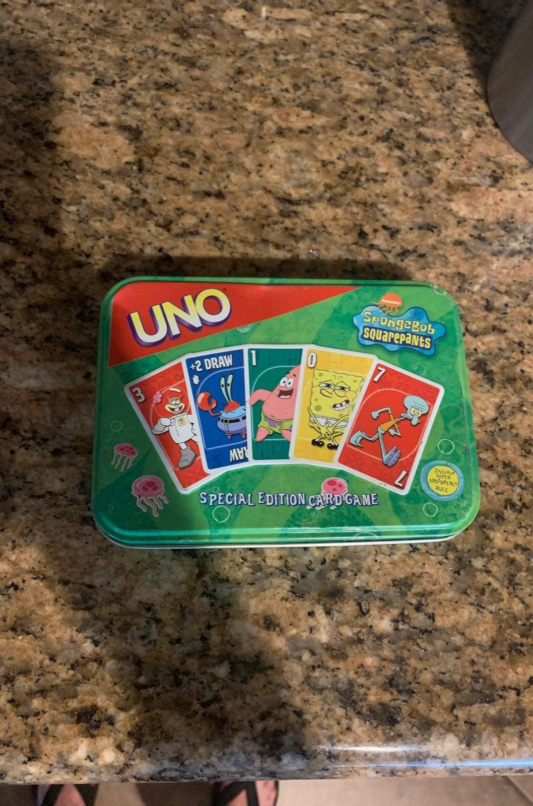 Spongebob Uno Game