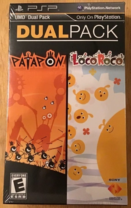 PSP Dual Pack Patapon LocoRoco  2 for 1