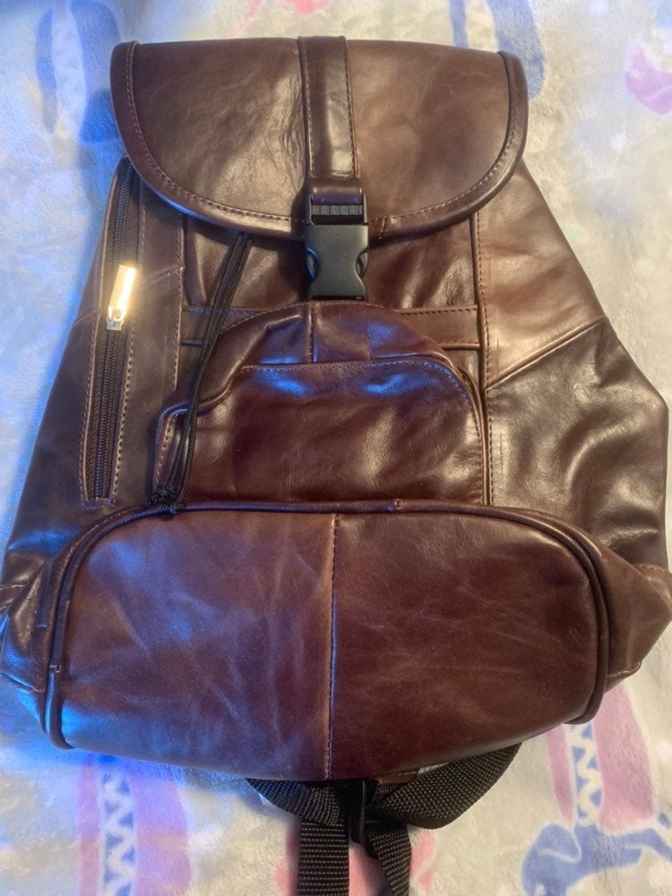 BRAND NEW, REAL LEATHER BACKPACK