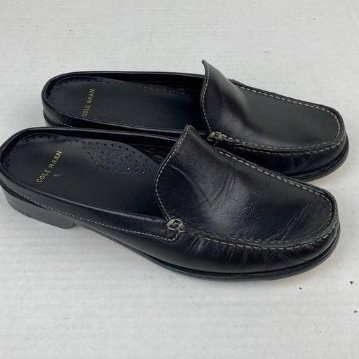 Cole Haan Leather Slide Mules Black 6