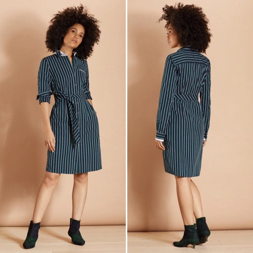 Brooks Brothers Striped Dobby Shirt Dres