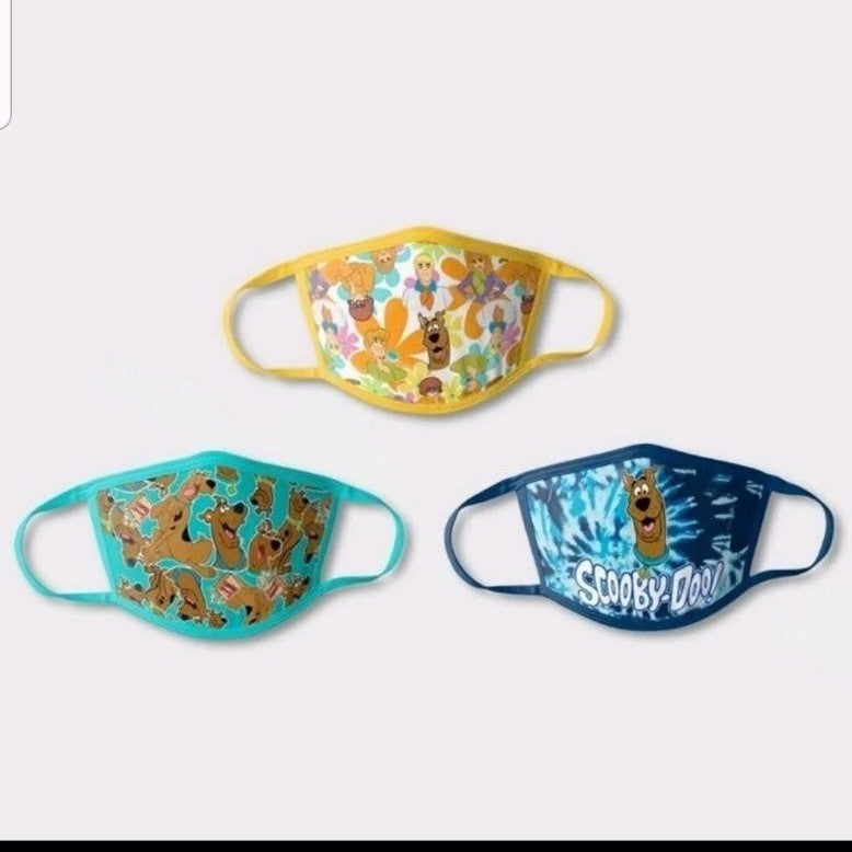 3 pack of kids scooby doo mask