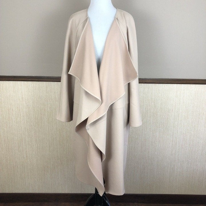 H by Halston 20W Tan Open Front Jacket