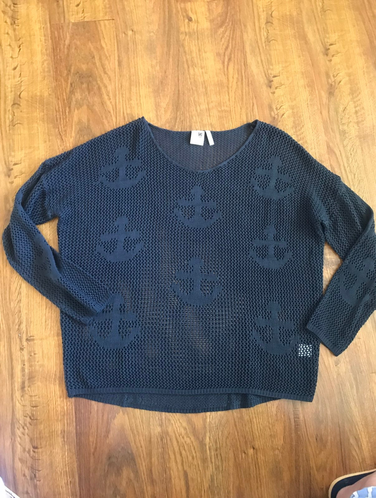 Navy anchor Sweater