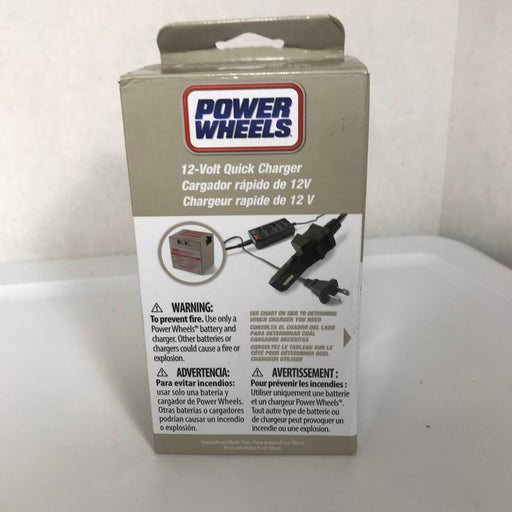 Power Wheels quick charger